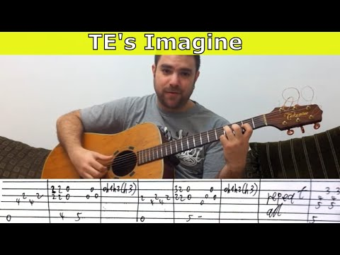 Tutorial: Imagine (Tommy Emmanuel Version) - Fingerstyle Guitar w/ TAB