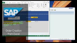 Video SAP GUI Scripting - Order Creation from Excel download MP3, 3GP, MP4, WEBM, AVI, FLV Desember 2017