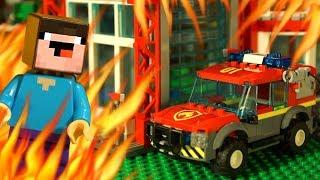 🔥 Лего ПОЖАР 🏀 LEGO NBA для Лего НУБика Майнкрафт - Мультики и Анимация для Детей