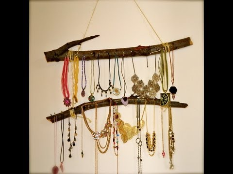 How to make a Wooden Necklace hanger - Natalie's Creations