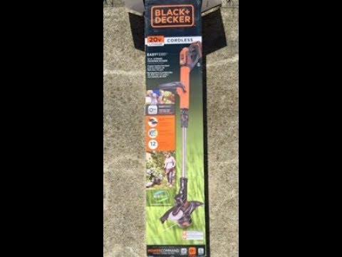 Black Decker 20v Max Cordless Weed Eater Youtube