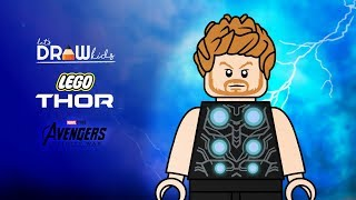 Thor Drawing   Thor Lego   Thor Infinity War   Lego Avengers