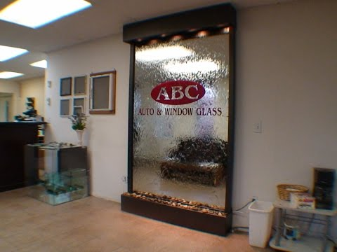 ABC auto and window glass waterfall floor standing custom made - WaterfallNow