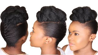 DIY Natural Hairstyle Tutorial - Twist And Roll Hairstyle