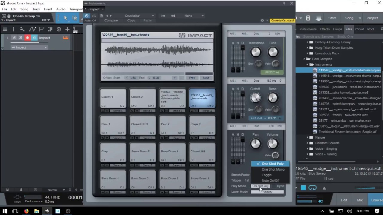 Learn Studio One 3 5 Impact Drum Machine In 15 Minutes