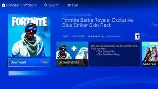 HOW TO GET *FREE* SKINS in Fortnite! - Fortnite Battle Royale Free Exclusive Blue Striker Skin Pack!