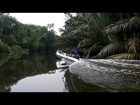 Inflatable kayak fishing with Kairos boats in the rivers of Malaysia