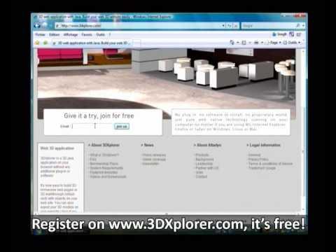 3DXplorer web3D virtual worlds website 3Dweb