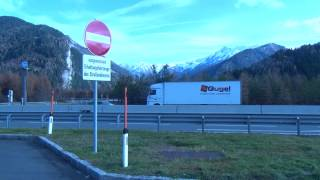 Motorway service stop on Brenner Pass : Over the Alps part six