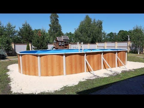 Большой каркасный бассейн на даче своими руками. Как сделать монтаж Эсприт-Биг 10х5.5х1.35