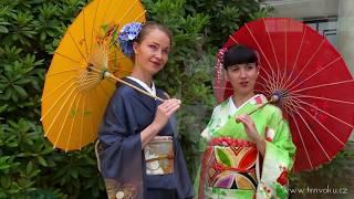 Japonsky tanec v kimonech na Japonskem víkendu, Průhonice 2017