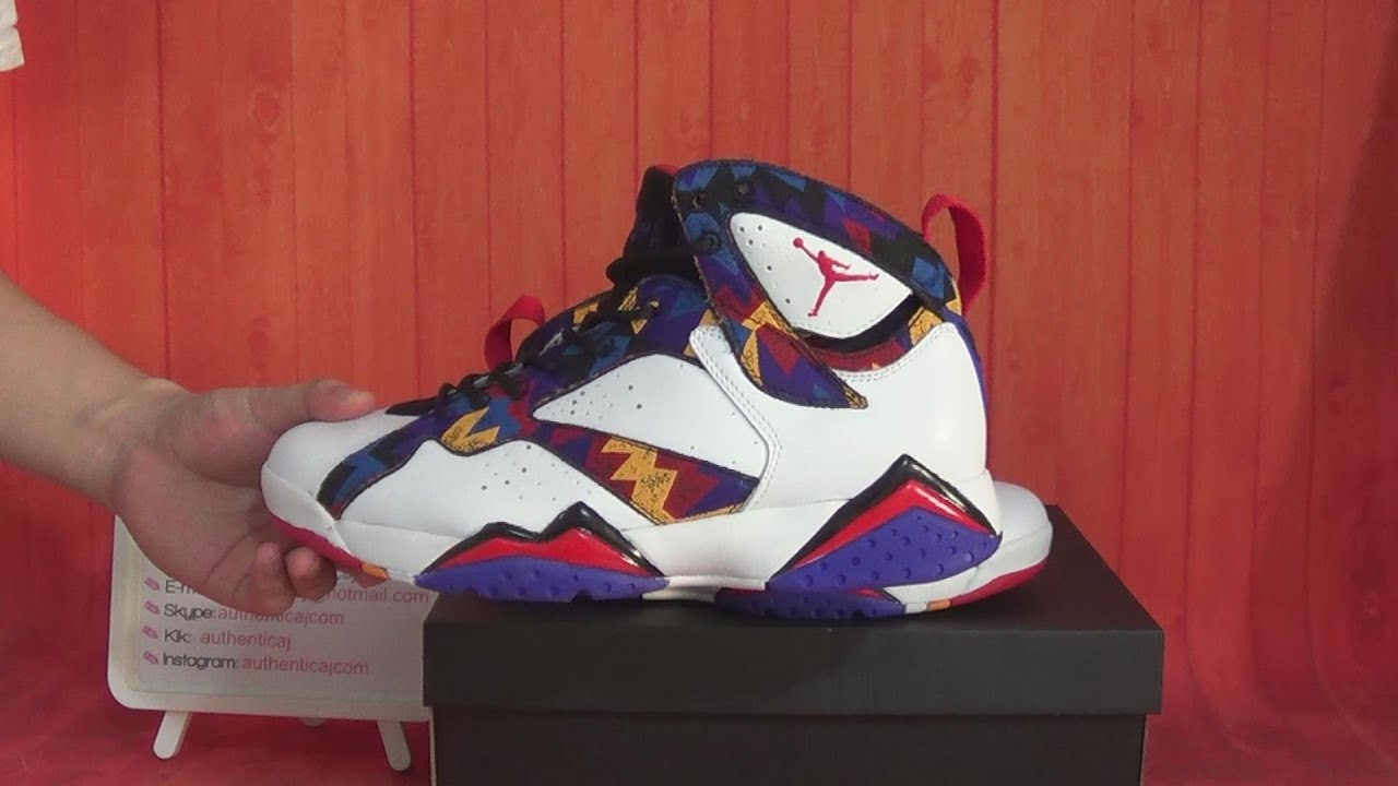 Real Retro Jordans: Authentic Air Jordan 7 Retro Sweater 7s Nothing But Net HD