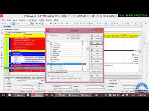 PART6,Oracle Primavera P6,How to work with BOQ,baseline,status and more