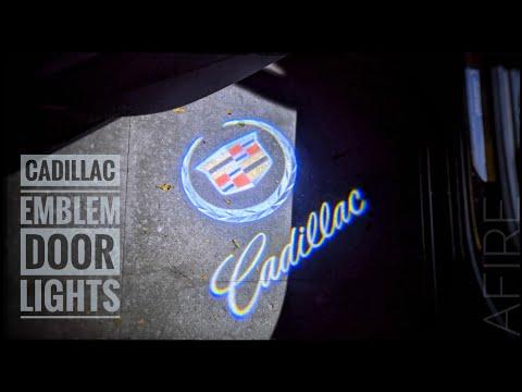 Cadillac Car Door Logo Lights Installation