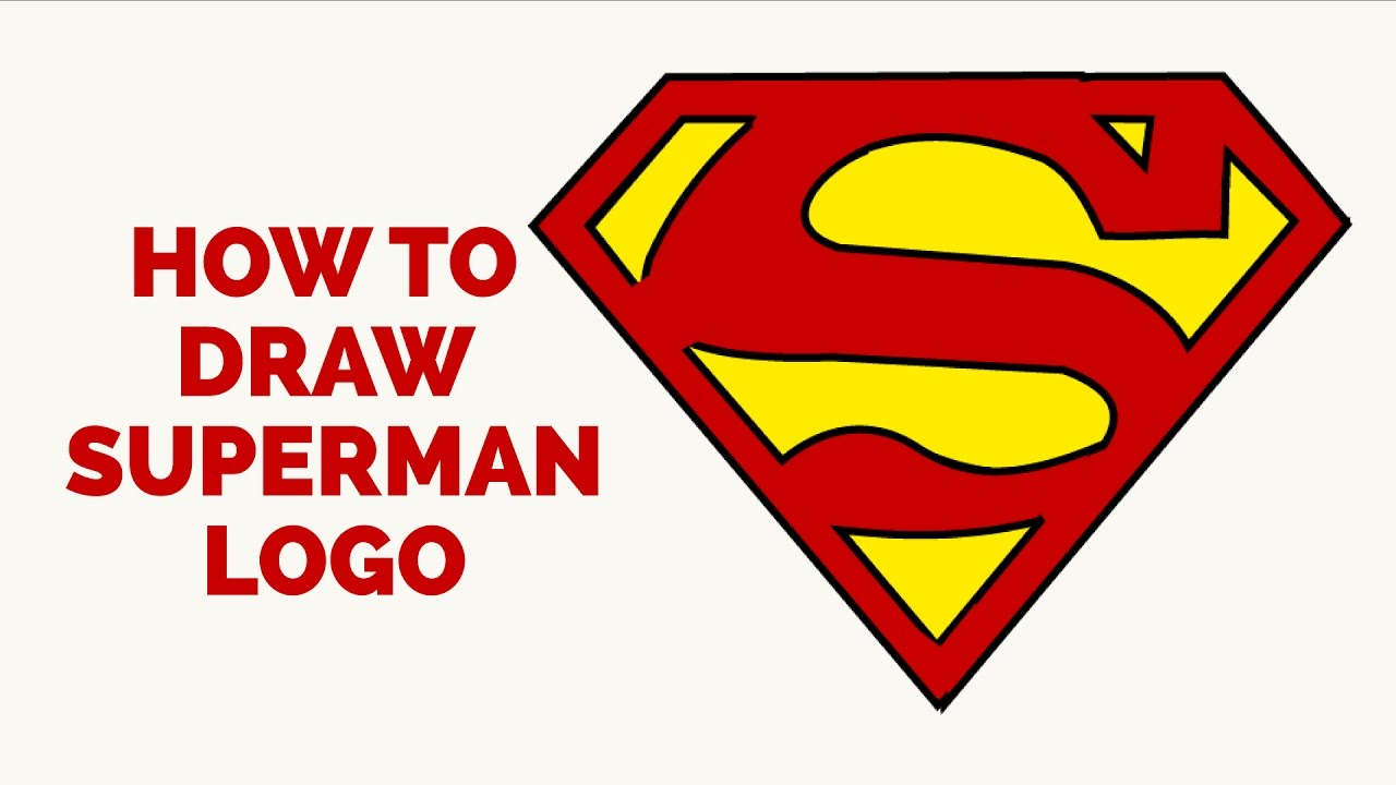 How To Draw A Superman Logo In Few Easy Steps Drawing Tutorial For Kids And Beginners