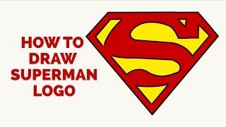 superman easy drawing draw steps tutorial beginners few getdrawings