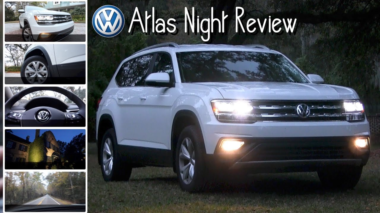 volkswagen atlas winter night review lighting driving  historic south youtube