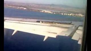 Aegean Airlines Landing On Larnaca Airport, Cyprus