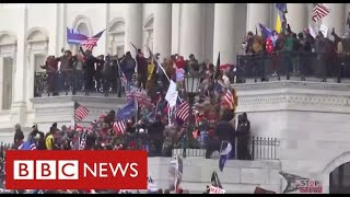 Chaos in Washington as Trump supporters storm Capitol and force lockdown of Congress - BBC News