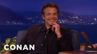 "Timothy Olyphant Outs The One D-Bag On ""Justified""  - CONAN on TBS"