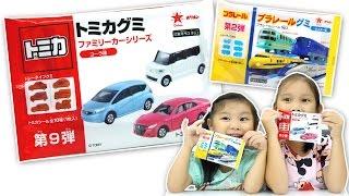 多美小汽車軟糖 小火車 超可愛還有送貼紙 可樂口味跟汽水口味 跑車 車車食玩 火車食玩 car Sunny Yummy running toys 跟玩具開箱 日本TOMICA