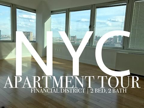 NYC APARTMENT TOUR   FiDi 2 bedroom, 2 bathroom