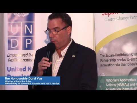 UNDP Jamaica: Minister Vaz notes Climate Change potential to derail all development programmes