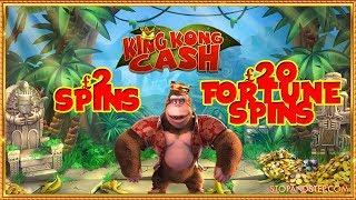 King Kong Cash £2 Spins & £20 Fortune Spins