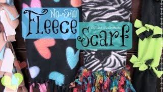 No Sew Fleece Scarf How To - 4 Different Styles Thumbnail
