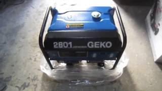 Обзор бензинового генератора Geko 2801