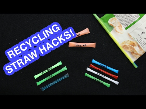 How To Recycle Straws Into Travel Packs