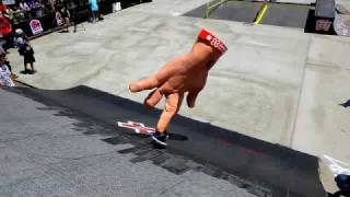 The Hand Crashes the X-Games Street Course