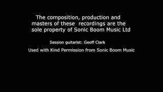 Session Guitar playing on Radio Jingles by Sonic Boom Music Ltd