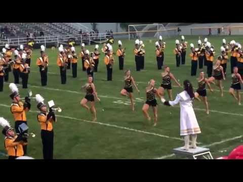 Sylvania Northview marching band 8/28/15 at Waite High School (song #2)