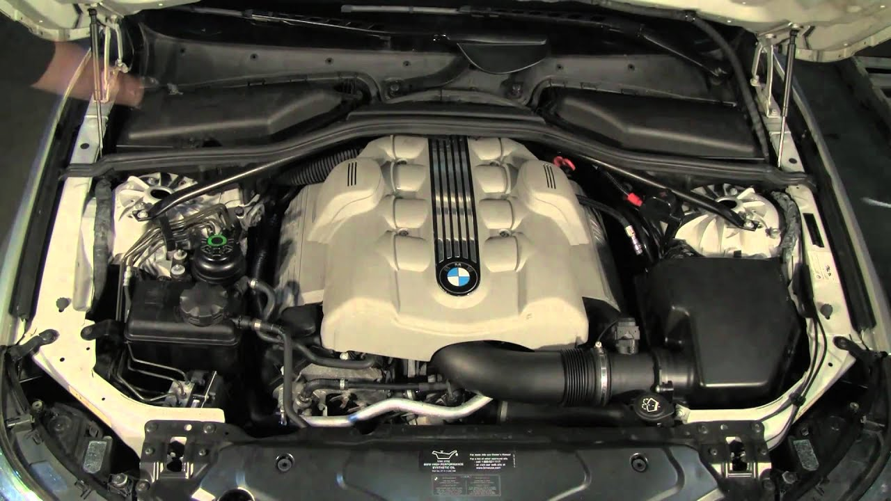 under the hood of a bmw 5 series 04 thru 10