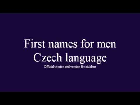 Czech First Names For Men And For Children