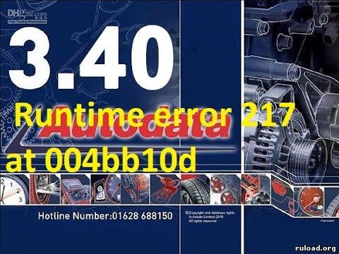 Autodata Runtime error 217 at 004bb10d  Windows 10/7/8/XP