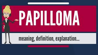 papillomas meaning of