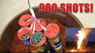 980 Shot Roman Candle Firework (HD)