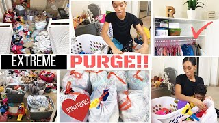 MASSIVE DECLUTTERING AND PURGE!! // DECLUTTER WITH ME!! // DONATING // SAHM