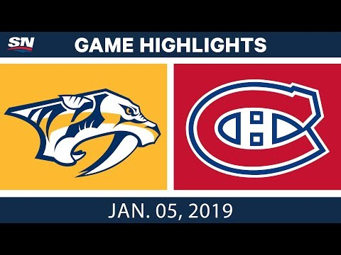 NHL Highlights | Predators vs. Canadiens - Jan. 5, 2019
