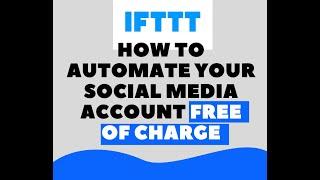 Social Media SCHEDULER With IFTTT
