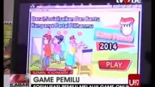 Game Pemilu 2014 di TvONE - Rekaman video