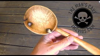 Black Locust Wooden Spoon Time-Lapse