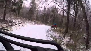 4 Wheeling in a little bit of snow and a lot of ice....