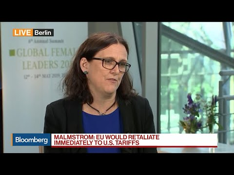EU Is Ready to Retaliate 'Quite Rapidly' to U.S. Tariffs: Malmstrom