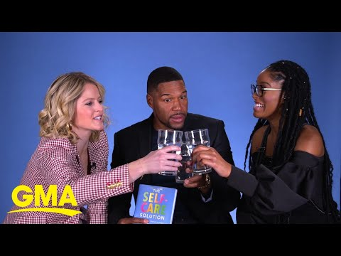 Strahan, Sara And Keke Took A Hydration Challenge, And Here's Who Came Out On Top L GMA Digital