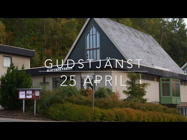 Gudstjänst 25 April