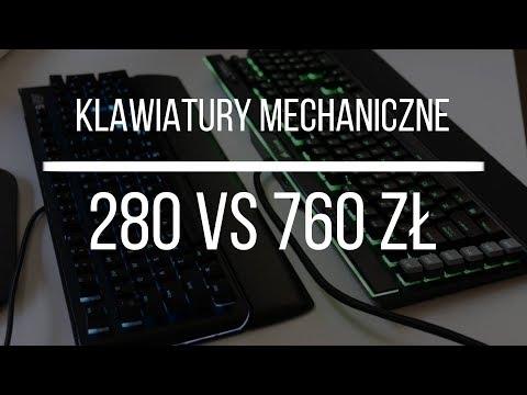 Klawiatura mechaniczna za 280 PLN vs 760 PLN | SPC Gear GK550 vs Corsair Gaming K95 RGB Platinum