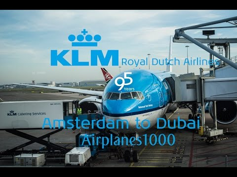 KLM Royal Dutch Airlines Boeing 777-300ER PH-BVG Amsterdam to Dubai Flight Report *FULL FLIGHT*